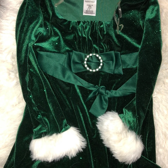 Other - Little Girls Christmas Dress Faux Fur Holiday